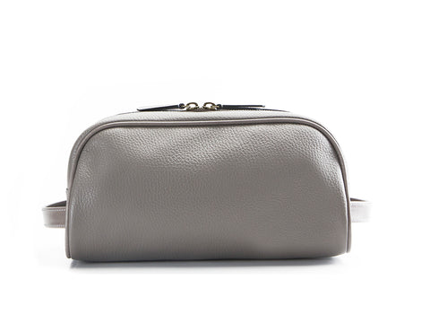 Montagnard leather day bag in grey