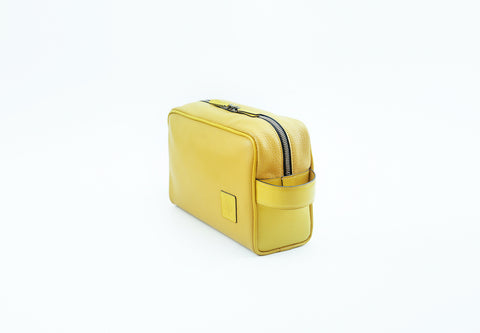 Nancy mini day bag yellow pebble grain leather