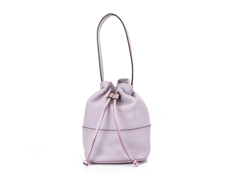 Noel hand bag in pale pink pebble grain leather