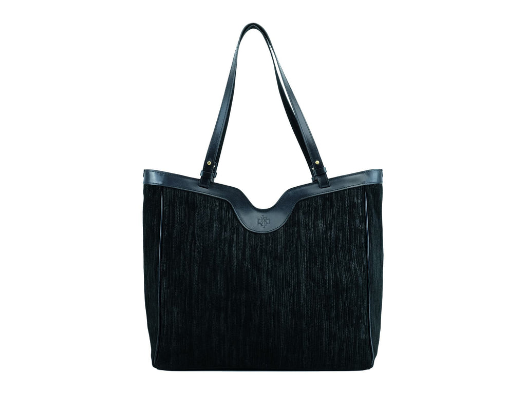 Ottilie bag exotic print Italian suede leather in black