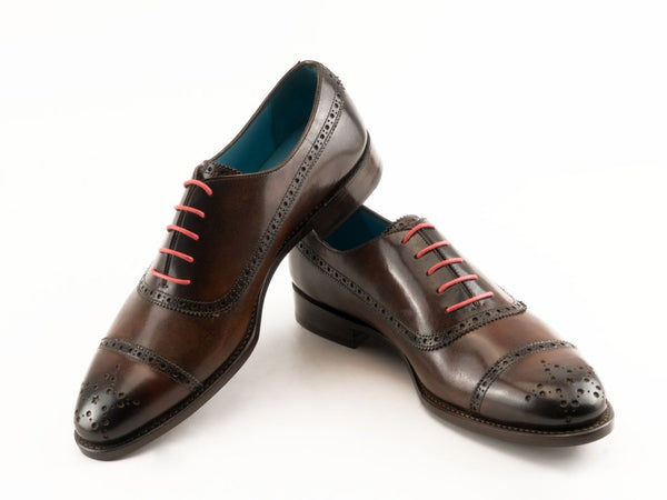 PQ Oxford brogue shoes dark brown patina