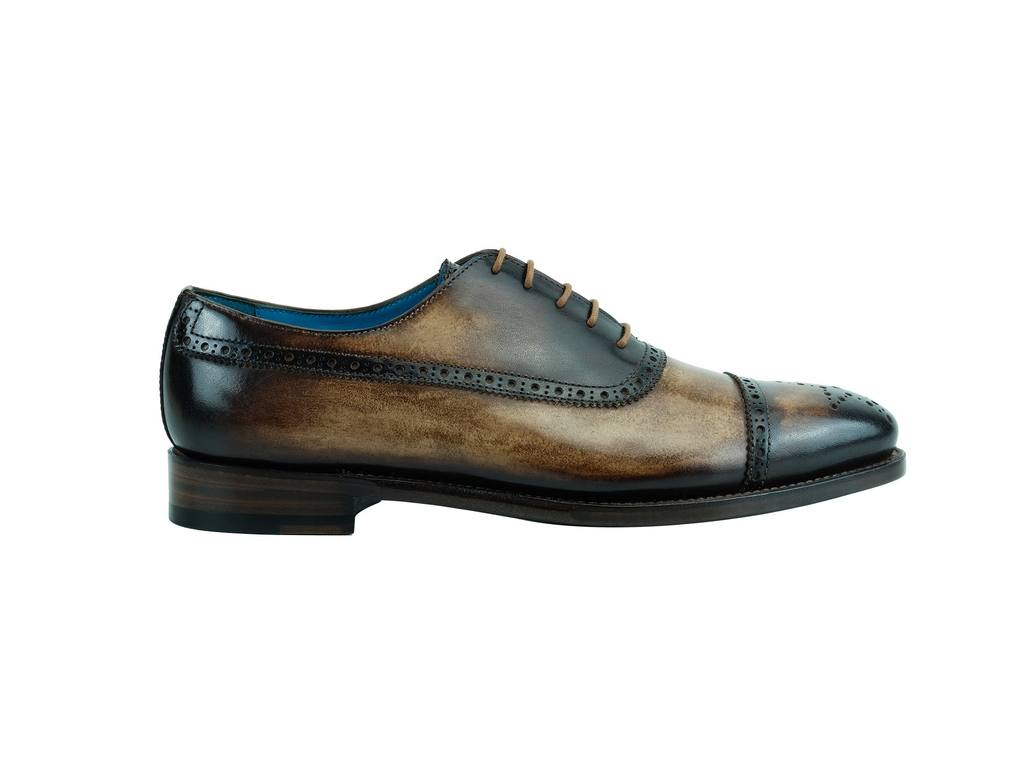 PQ Oxford brogue shoes vintage brown Made To Order