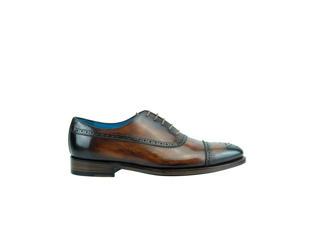 PQ Oxford brogue shoes dark oak - Made To Order
