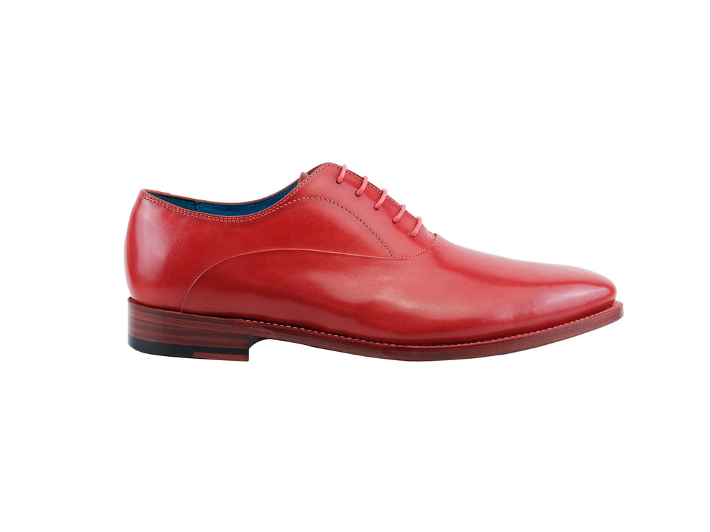 Pasteur Oxford shoes hand painted red patina