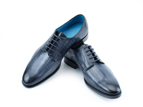 Pert Derby classic shoes in grey linear patina hand color
