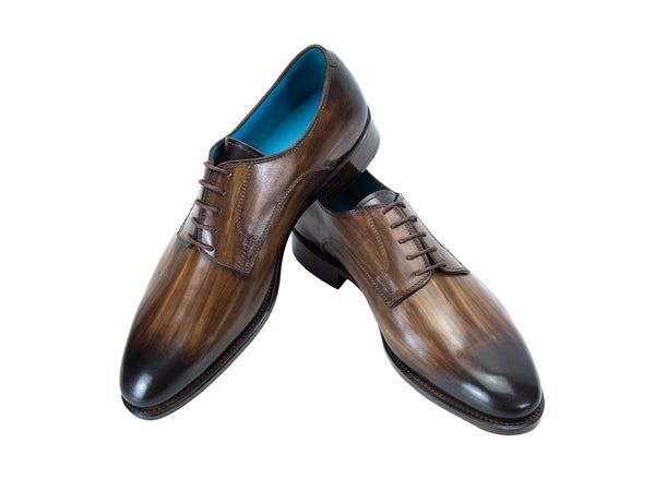 Pert Derby classic shoes in a dark wood patina colour