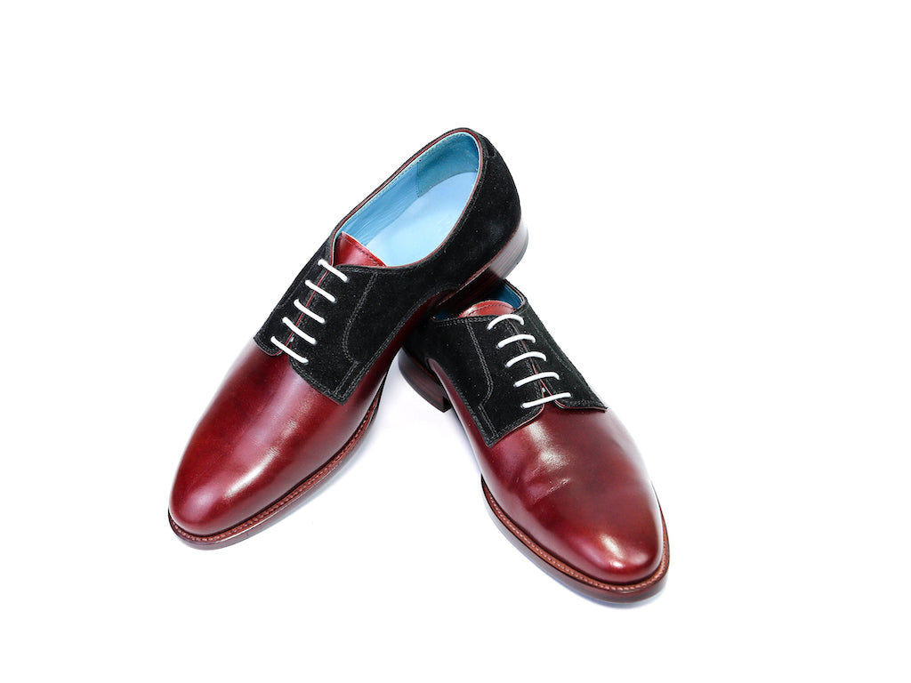 PERT SHOES BLACK SUEDE AND BURGUNDY READY TO WEAR