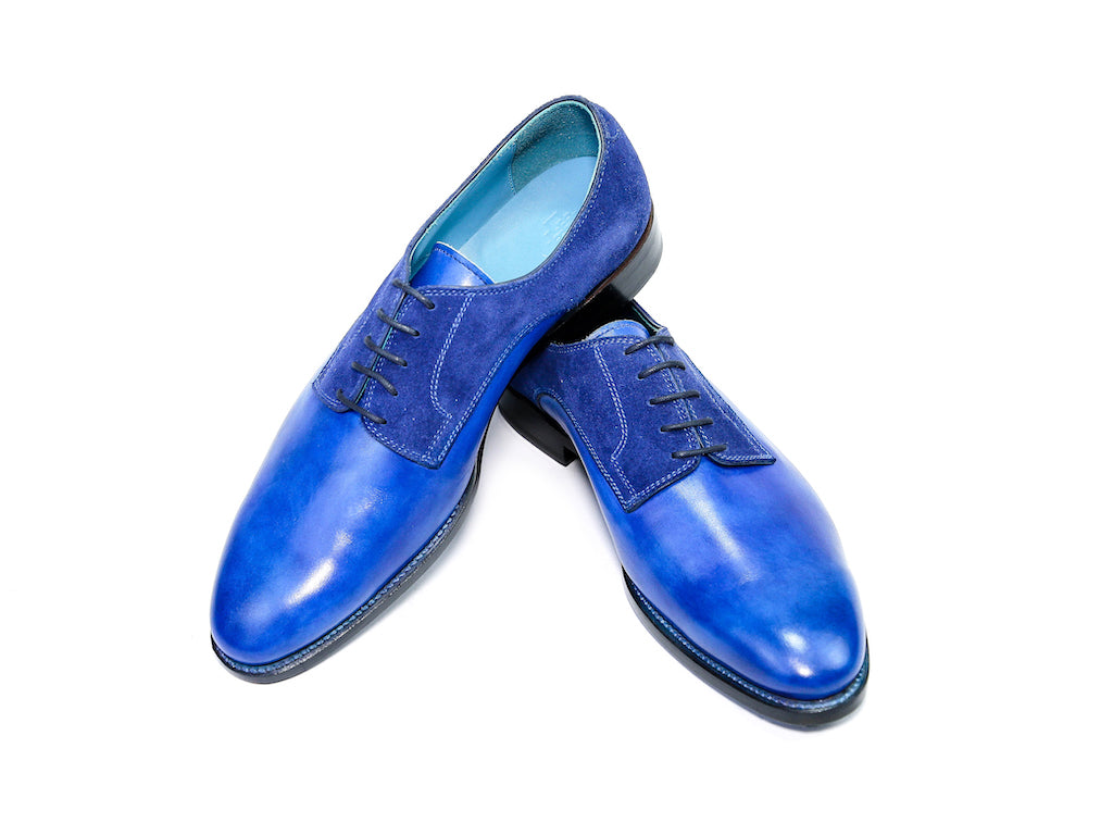 Pert-Derby-shoes-Goodyear-welted-hand-painted-patina-blue-40EE