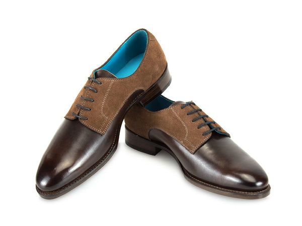 Pert Derby shoes in custom made colors and suede