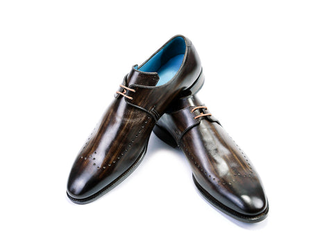 Phsar-Dek-Derby-shoes-Goodyear-welted-brown-patina-46EE