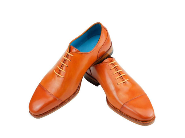 Russell Oxford shoes with custom made orange color