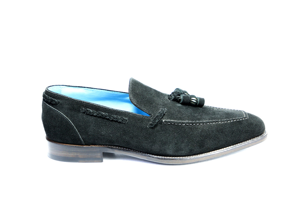 44 F SAIGON TASSEL LOAFERS, BLACK SUEDE - READY TO WEAR