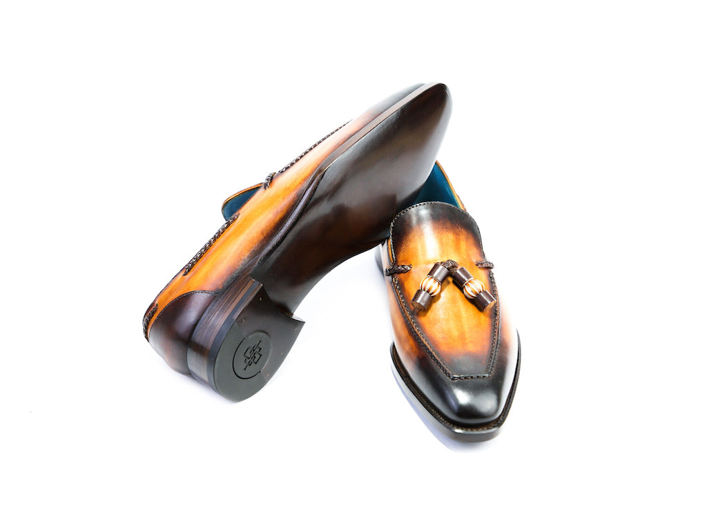 39 EE SAIGON TASSEL LOAFERS, TOBACCO PATINA - READY TO WEAR