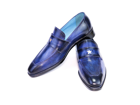 41N STAR LOAFERS, BLUE PATINA - READY TO WEAR
