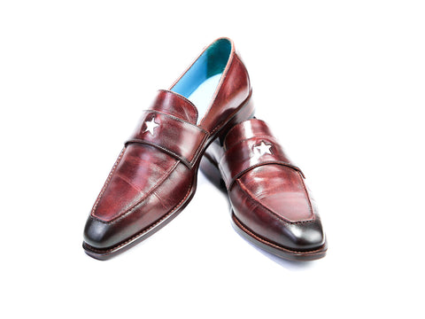 38 EEE STAR LOAFERS, BURGUNDY PATINA - READY TO WEAR