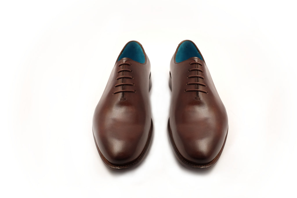 Whole cut bark color patina Goodyear shoes - Dominique Saint Paul