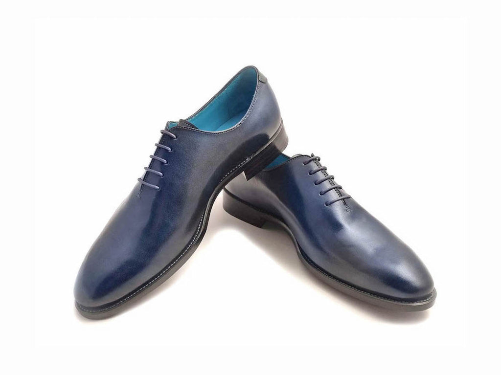 The Aristocrat whole cut shoes in midnight blue patina - Made To Order