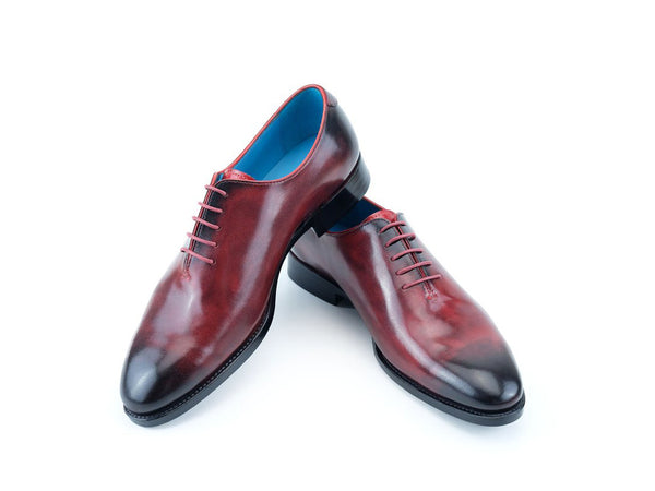 The Aristocrat whole cut dress shoes in Bordeaux patina