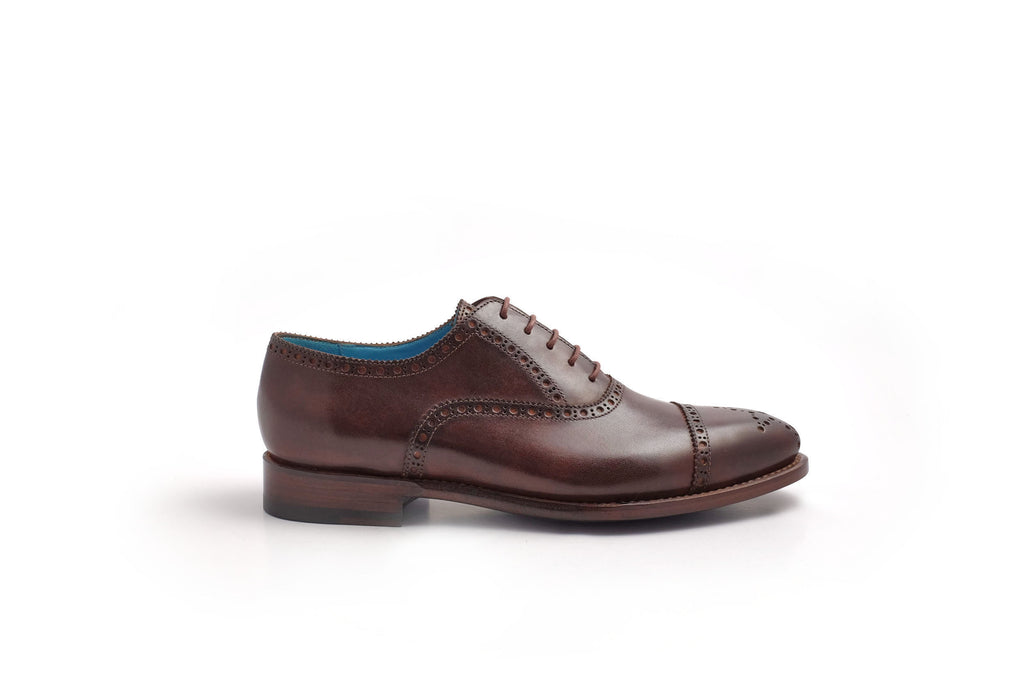 Half brogue shoes hand color patina bark colour - Dominique Saint Paul