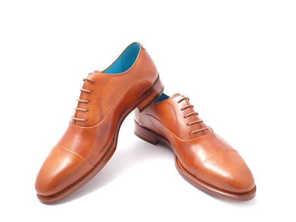 The Classic Dominique Saint Paul Oxford patina shoes tan