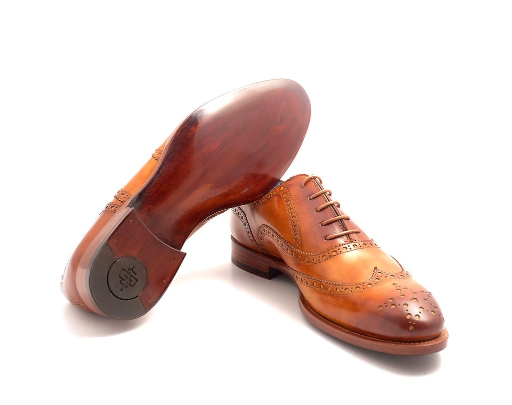 The Countryman full brogue patina shoes Saigon leather