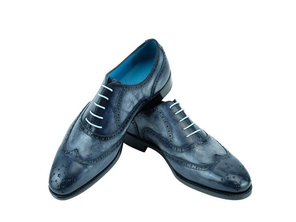 Countryman brogue shoes in custom made color storm cloud