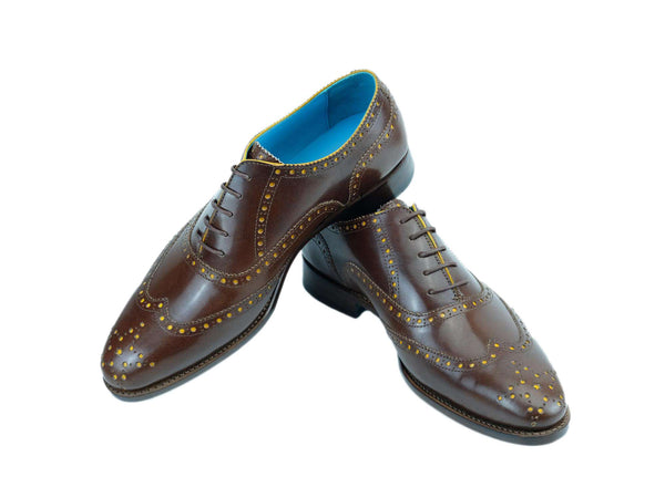 Shoes with custom made hand painted color in your style