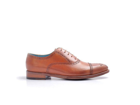 MADE TO ORDER CITIZEN SHOES LONDON TAN PATINA
