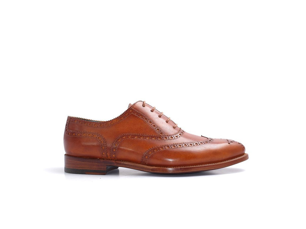 The Countryman full brogue shoes London tan patina