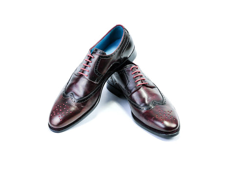 WANG TAI SHOES - BURGUNDY PATINA - READY TO WEAR (43 EEE)