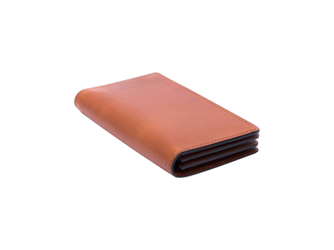 Accordion card holder wallet in london tan