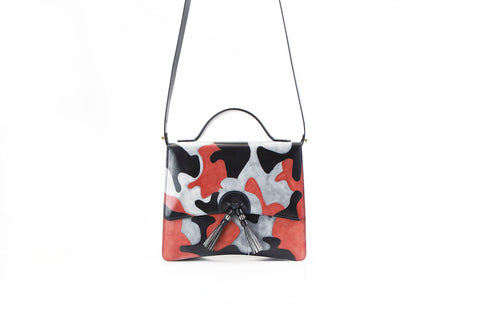 Bertha handbag Japanese Koi carp hand painted
