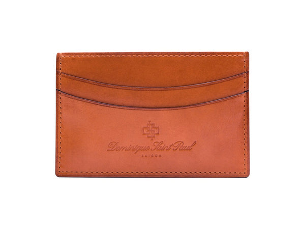 London tan hand painted patina leather evening wallet