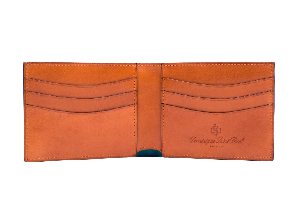 Classic standard wallet in hand painted patina London tan