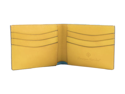 Classic leather wallet in sun flower yellow patina