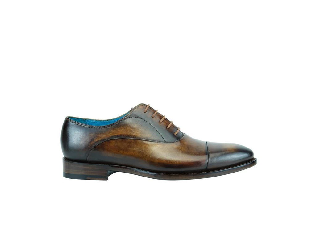 Hand painted custom colour patina shoes made to order