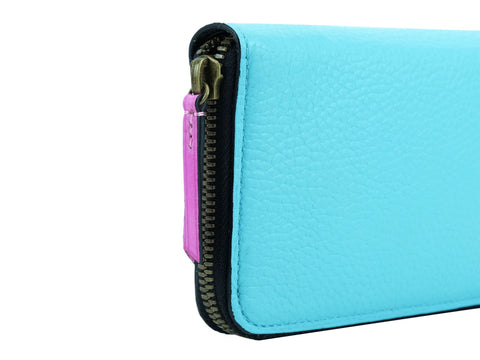 Phileas travel wallet in custom colors and Italian leather