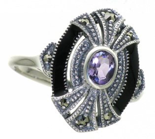 Sterling Silver Art Deco style ring
