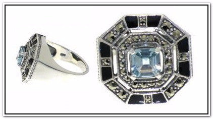 Sterling Silver Octagonal Ring
