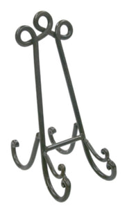 Iron plate stand dark brown - large