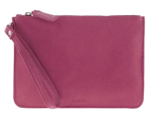 Queens Leather Pouch  - Pink