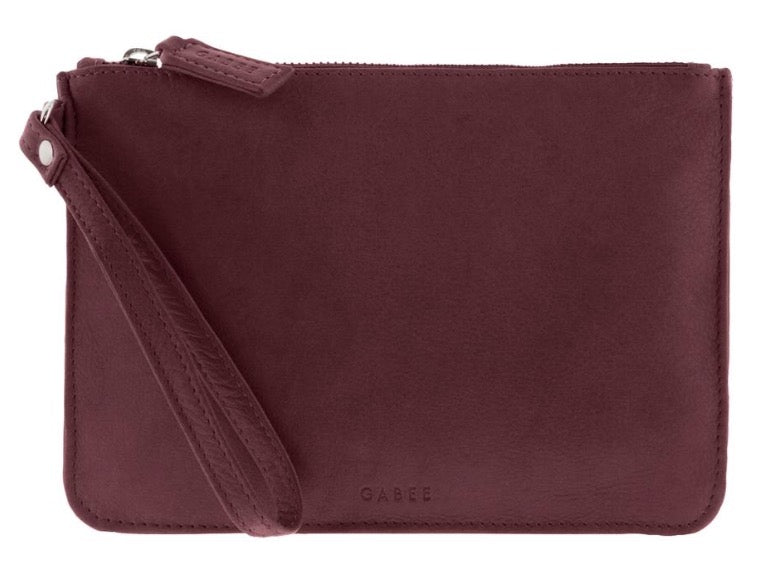 Queens Leather Pouch  - Wine