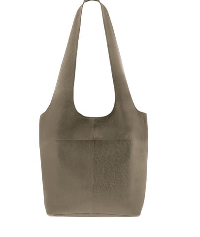 Soft Leather Tote - Olive