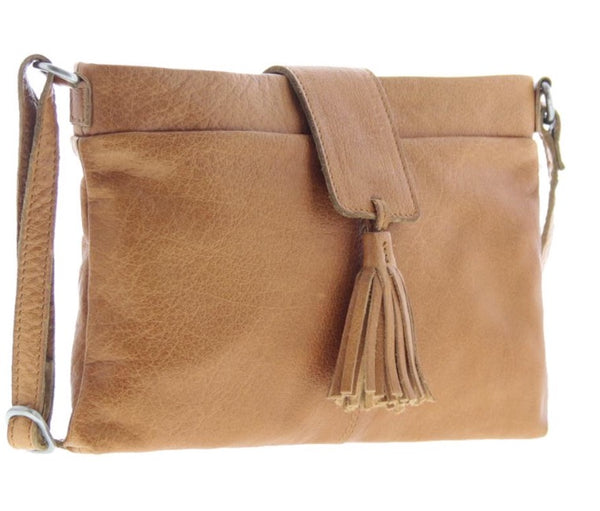 Lorne Soft Leather Crossbody Camel