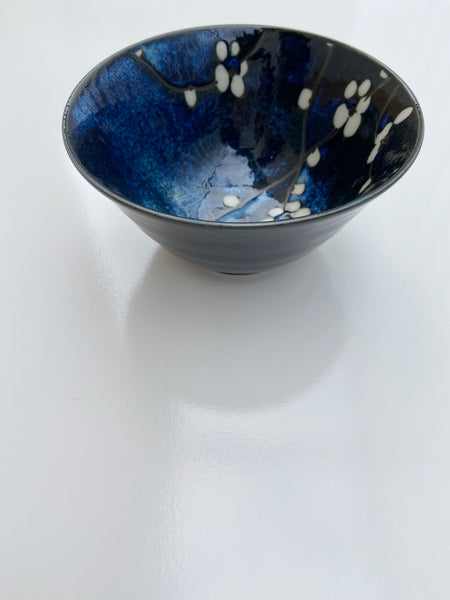 Japanese Blue/White Blossom Bowl- Small
