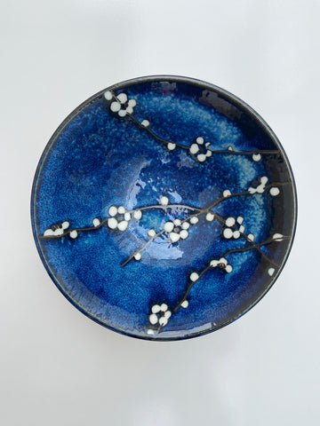 Japanese Blue/White Blossom Bowl- Large