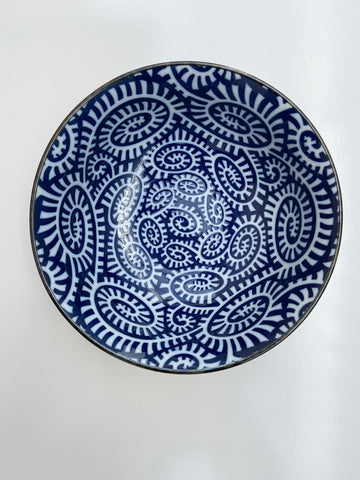 Japanese Patterned Navy/White Bowls- Medium