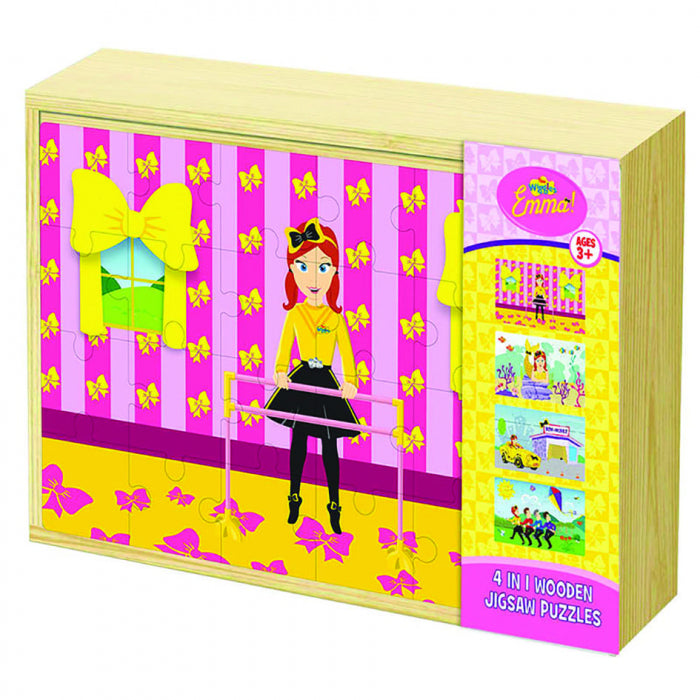 THE WIGGLES EMMA 4 IN 1 WOODEN PUZZLE