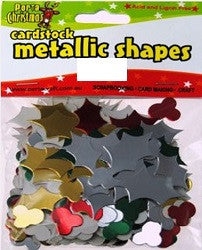 Metallic Cardstock Metallic Shapes Holly Pack of 33 grams - 094709 - Collins Craft and School Supplies