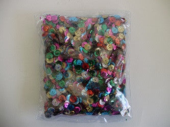 Sequins 8mm Cup Assorted Colours Bulk - Collins Craft and School Supplies
